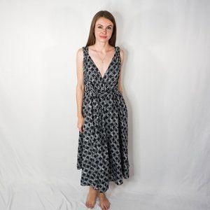 BACKWOODS Midi Sleeveless Dress with Belt NWT